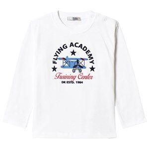 Dr Kid White Flying Academy Long Sleeve Tee 3 years