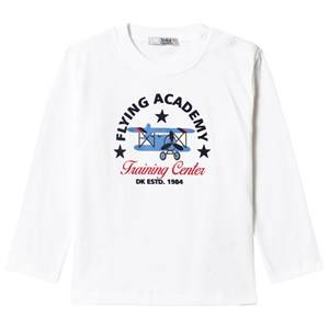 Image of Dr Kid White Flying Academy Long Sleeve Tee 6 months