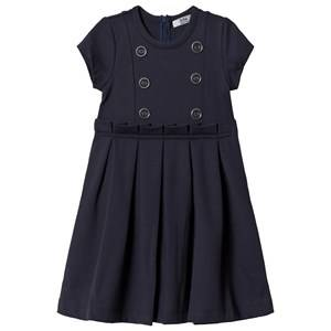 Dr Kid Navy Button Detail Pleated Dress 3 years