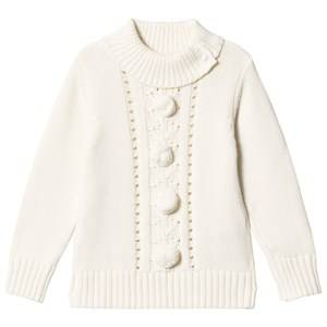 Image of Dr Kid White Pom-Pom Sweater 6 years