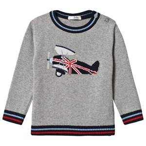 Image of Dr Kid Grey Airplane Sweater 6 months