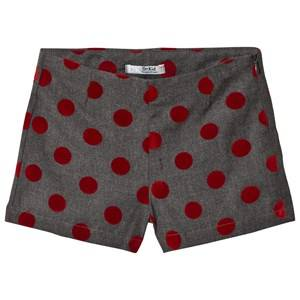Image of Dr Kid Grey and Red Spotted Shorts 6 years