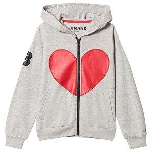 The BRAND Heart Hoodie Grey Melange 104/110 cm