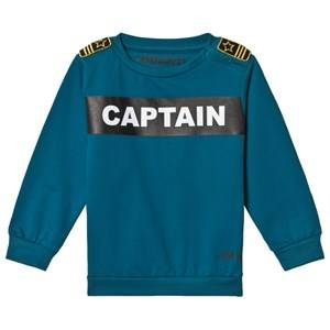 The BRAND Terry Captain Sweater Petrol 80/86 cm