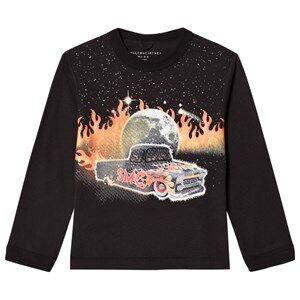 Image of Stella McCartney Kids Black Car Print Long Sleeve Tee 10 years