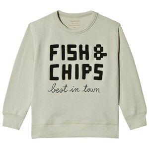 Tinycottons Fish & Chips Graphic Sweatshirt Pistachoio 2 Years