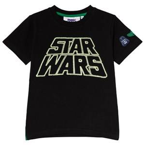 Fabric Flavours Black Star Wars Retro Glow In The Dark T-Shirt 6-7 years