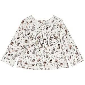 Image of IKKS White You Are My Favourite Print Top 3 years