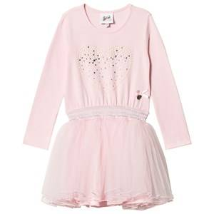 Image of Le Chic Pink Petitcoat Dress with Pearl Heart Print 152 (11-12 years)