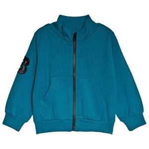 The BRAND Petrol Big B-Moji Zip Sweatshirt 128/134 cm
