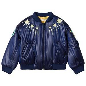Raspberry Plum Navy Boogie Jacket with Sunny Embroidery 2-3 years