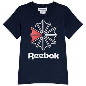Reebok Navy Classic Logo Tee 7-8 years