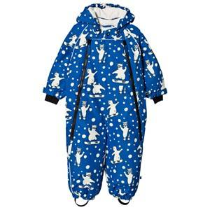 Smfolk Blue Snowboarding Polar Bear All in One Winter overall 6-12 months