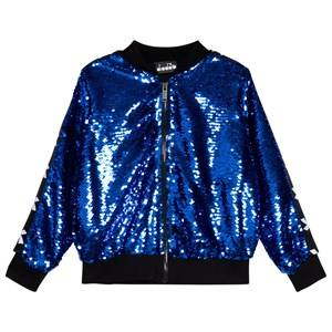 Image of Diadora Blue Sequin Bomber Jacket XS (6 years)