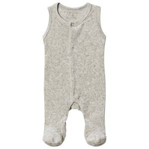 Image of Fixoni Premature Footed Baby Body Light Grey Melange 56 cm (1-2 Months)