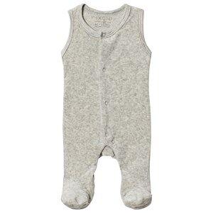 Image of Fixoni Premature Footed Baby Body Light Grey Melange 56 cm (1-2 Months)