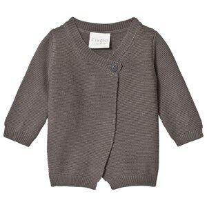 Fixoni Premature Knitted Cardigan Grey Melange 50 cm (0-1 Months)