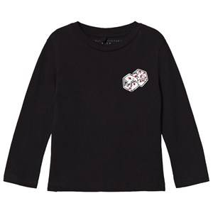 Image of Stella McCartney Kids Black Long Sleeve Tee with Dice Print 10 years
