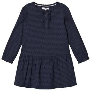 Image of ebbe Kids Navy Textured Dots Vanja Dress 116 cm (5-6 Years)