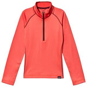 Patagonia Coral Capilene Heavyweight 1/4 Zip Top S (7-8 years)