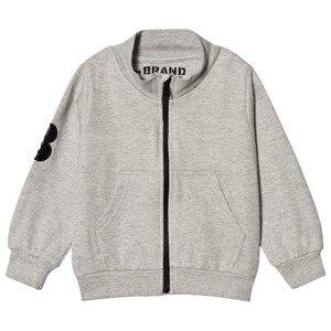 The BRAND Grey Mel Big B-Moji Zip Sweatshirt 80/86 cm