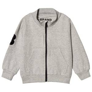 The BRAND Grey Mel Big B-Moji Zip Sweatshirt 128/134 cm