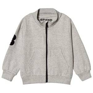 The BRAND Grey Mel Big B-Moji Zip Sweatshirt 128/134 cm