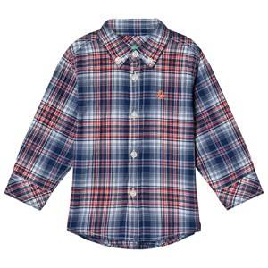 Image of United Colors of Benetton Check Shirt Red/Navy 4/5Y (XS 110cm)