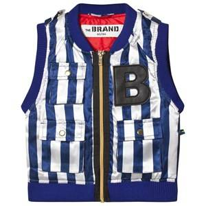 The BRAND B Vest Blue/White Stripe 104/110 cm