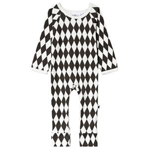 Tobias & The Bear Black and White Harlequin One-Piece 3-6 months