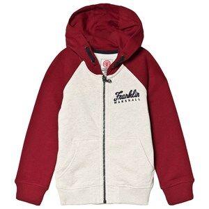 Marshall Franklin & Marshall Grey Dark Red Branded Hoodie 3-4 years