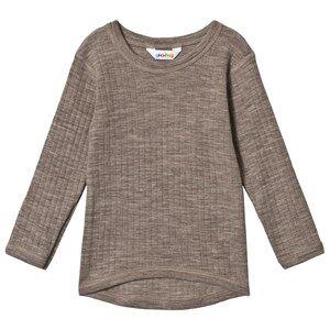 Joha Merino Wool Long Sleeve Tee Basic Sesame Melange 150 cm (11-12 Years)
