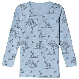 Hust&Claire; Abba Top Blue Dawn Melange Pyjamas
