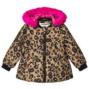 The BRAND Peplum Coat Leo/Pink 116/122 cm