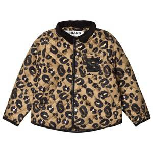 The BRAND Quilted Jacket Leopard 128/134 cm