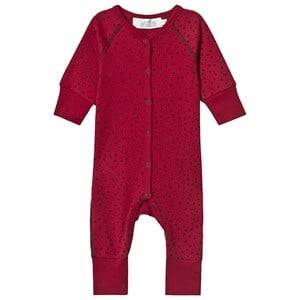 Image of Anve For The Minors Tiny Dots One-Piece Red 6-9 Months