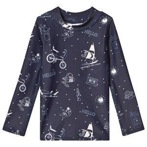 Image of Soft Gallery Astin Sun Shirt Dress Blues/Starsurfer Swim 4 Years