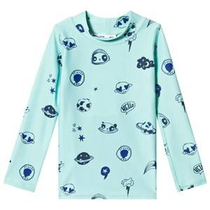 Image of Soft Gallery Astin Sun Shirt Ocean Wave/Space Swim 2 Years