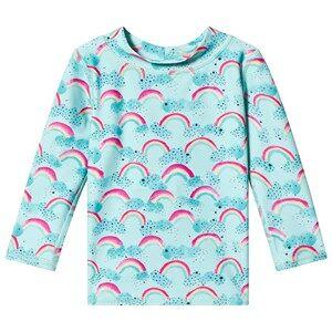 Image of Soft Gallery Astin Baby Sun Shirt Blue Tint/Rainbow 24 Months
