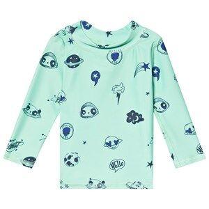 Soft Gallery Astin Baby Sun Shirt Ocean Wave/Space Swim 18 Months