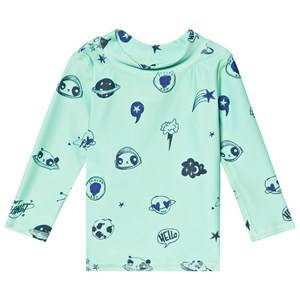 Image of Soft Gallery Astin Baby Sun Shirt Ocean Wave/Space Swim 24 Months