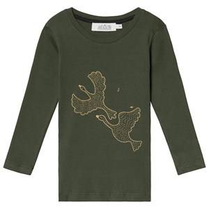 Image of Anve For The Minors Long Sleeve Tee Swans 3 Years