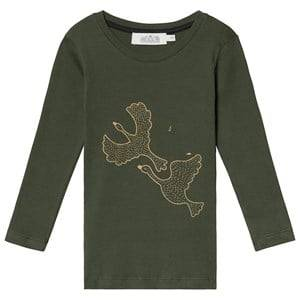Image of Anve For The Minors Long Sleeve Tee Swans 2 Years