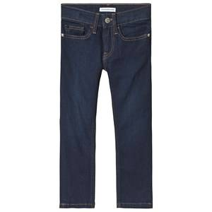 Image of Calvin Klein Jeans Blue Slim Rinse Blue Star Jeans 6 years