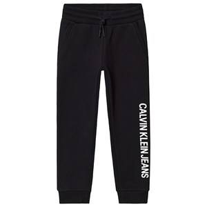 Image of Calvin Klein Jeans Black Logo Cotton Terry Sweatpants 6 years