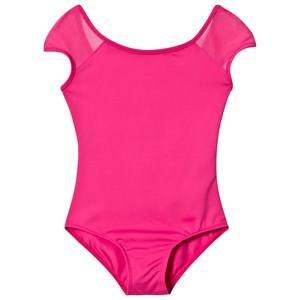 Image of Bloch Hot Pink Addilyn Bow and Diamante Leotard 2-4 years