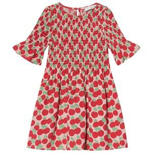 Image of Stella McCartney Kids Red Cherry Print All Over Dress 2 years