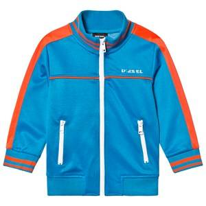 Diesel Blue and Red Branded Tricot Track Jacket 4 years