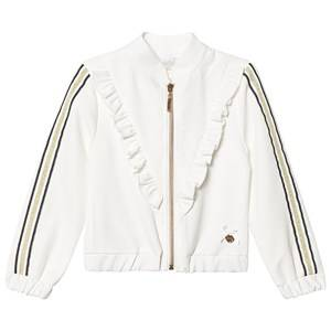 Le Chic Cream Frill Front Bomber Jacket 104 (3-4 years)
