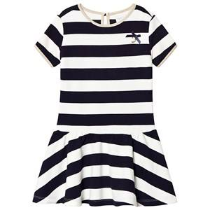 Le Chic Navy and White Knit Dress 104 (3-4 years)
